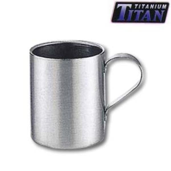 キャプテンスタッグ(CAPTAIN STAG) チタン製ダブルマグカップ230ml M-9076 チタン製マグカップ