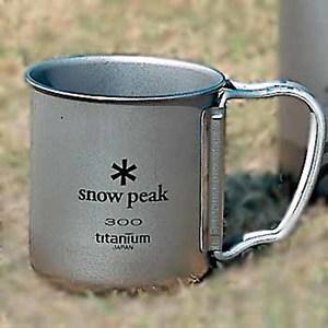 スノーピーク(snow peak) チタンシングルマグ300mlフォールディングハンドル