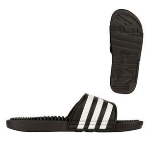 【送料無料】adidas(アディダス) アディサージ サンダル 24.5cm 078260(ブラックxブラックxホワイト) 21514