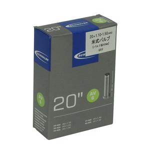 SCHWALBE(シュワルベ) 【正規品】チューブ 20インチ 米式バルブ 20x1.1-1.50、20x1-1/8(406 6AV