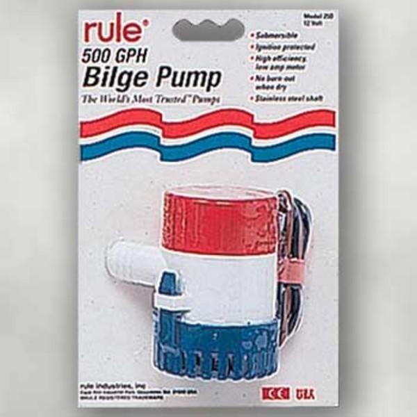 キサカ RULE ビルジポンプ 500GPH 504175 ボートアクセサリー・パーツ
