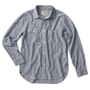 THE NORTH FACE(ザ・ノースフェイス) BLUE&BROWN SHIRT MEN'S AT30851