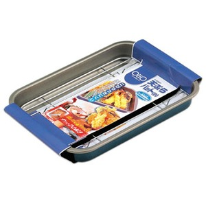 パール金属 オーリオ ふっ素樹脂加工天ぷらバット 小 ブルー H-5067