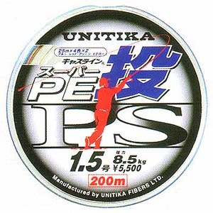 ユニチカ(UNITIKA) キャスラインスーパーPE投PS 200m 1.5号 4色分け 01513