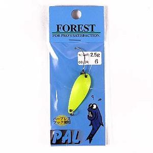 FOREST(フォレスト) PAL(パル) 2.5g 6 蛍光イエロー