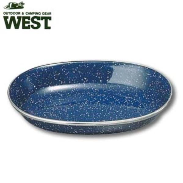 キャプテンスタッグ(CAPTAIN STAG) ウエスト ホーロー小判型カレー皿 M-9040 ホーロー製お皿