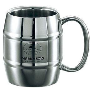 キャプテンスタッグ(CAPTAIN STAG) ビーフリー ダブルステン樽型マグカップ M-1242