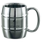 キャプテンスタッグ(CAPTAIN STAG) ビーフリー ダブルステン樽型マグカップ M-1242 ステンレス製マグカップ