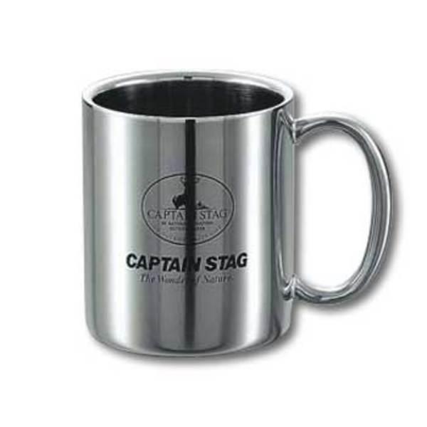 キャプテンスタッグ(CAPTAIN STAG) パラオ ダブルステンマグカップ310ml M-1250 ステンレス製マグカップ