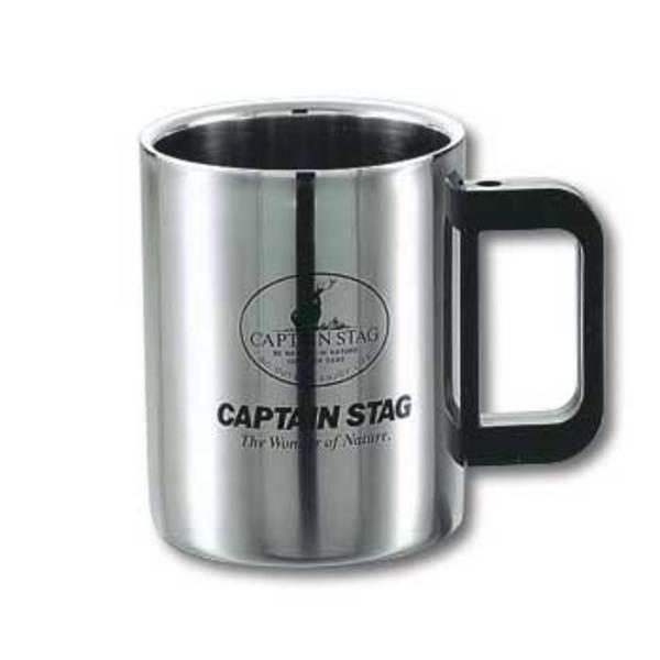 キャプテンスタッグ(CAPTAIN STAG) マレー ダブルステンマグカップ420ml M-1247 ステンレス製マグカップ