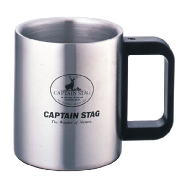 キャプテンスタッグ(CAPTAIN STAG) フリーダム ダブルステンマグカップ420ml M-7327 ステンレス製マグカップ