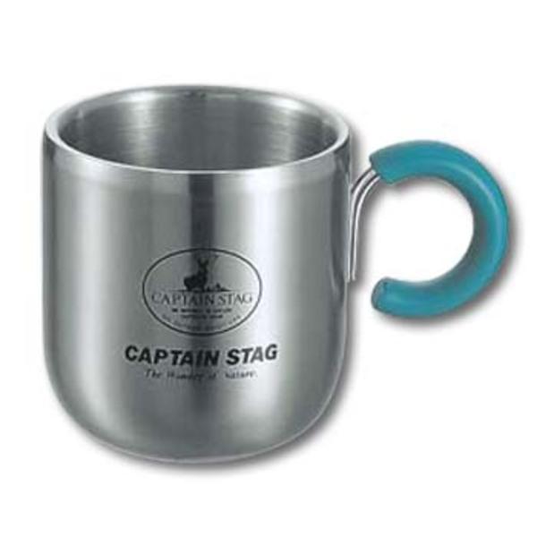 キャプテンスタッグ(CAPTAIN STAG) ピアリーダブルステンマグカップ280ml(グリーン) M-9134 ステンレス製マグカップ