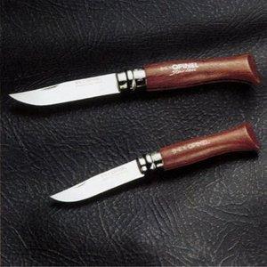 キャプテンスタッグ(CAPTAIN STAG)オピネル ステンレスローズ柄フォールディングナイフNO.6(ストッパー付)(台紙なし)