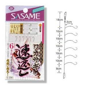 ささめ針(SASAME) ワカサギ速返し 6本鈎(秋田狐) C-214
