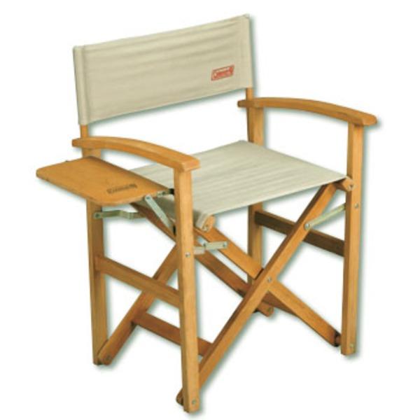 Coleman(コールマン) ガーデンウッドフォールダブルチェア テーブル付 170-5794 ディレクターズチェア
