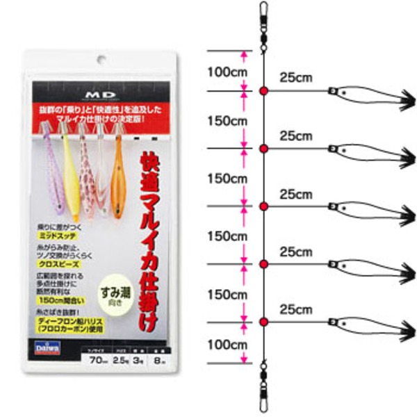 ダイワ(Daiwa) 快適マルイカ仕掛け 7106271 仕掛け