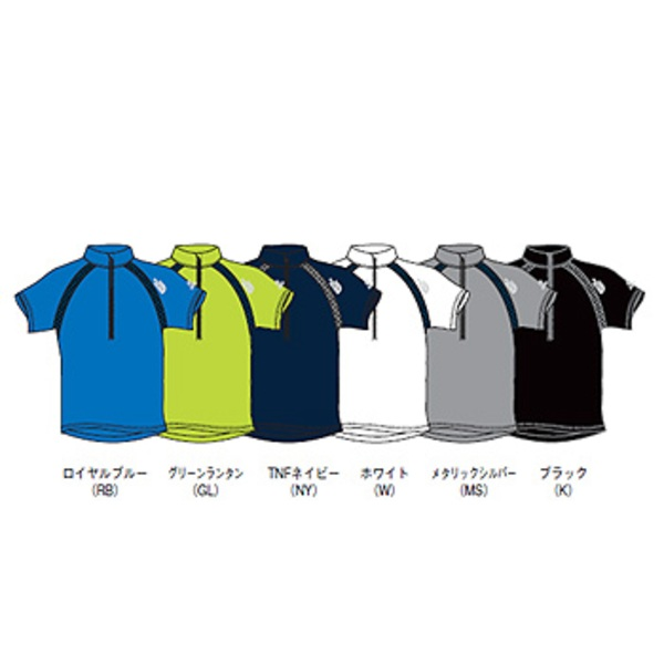 THE NORTH FACE(ザ・ノースフェイス) S/S Velocity ZipUp Men's NT30974 メンズ半袖シャツ