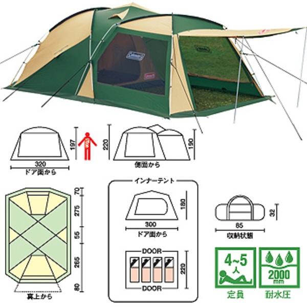 Coleman(コールマン) ワイドスクリーン2ルームハウス 170T14000J ファミリードームテント