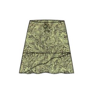 Columbia(コロンビア) ウィメンズ ヘブンリーガーゼプリントスカート XS 389(Limonata)