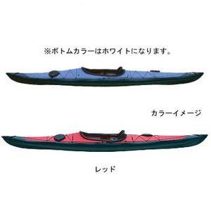 【送料無料】フジタカヌー(FUJITA CANOE) 430 TREK(トレック)【STD】 D:レッドB:ホワイト PE-1