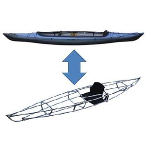 【送料無料】フジタカヌー(FUJITA CANOE) ALPINA-2(アルピナ2) 430 EX D:ライトパープルB:チャコールグレー