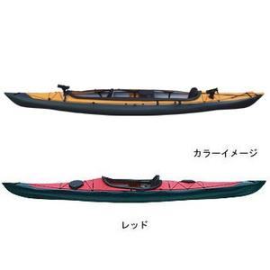 【送料無料】フジタカヌー(FUJITA CANOE) ALPINA-2(アルピナ2) 430 フィッシングモデル D:レッドB:チャコールグレー