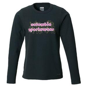 Columbia(コロンビア) ウィメンズ バブルロゴファンTシャツ L 010(Black)