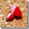 ヴァンフック(VANFOOK) ビーズヘッドアフロエッグ #10 レッド×ピンク