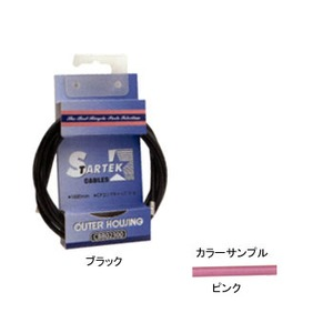 GIZA PRODUCTS(ギザプロダクツ) STARTEK ブレーキ アウター ケーブル 1.8m ピンク CBB02305