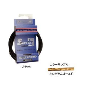 GIZA PRODUCTS(ギザプロダクツ) STARTEK ブレーキ アウター ケーブル 1.8m ホログラムゴールド CBB02311