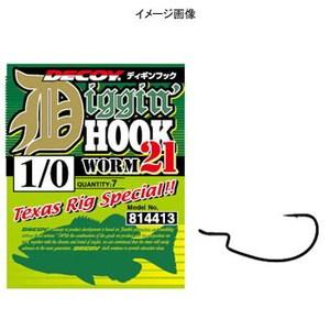 カツイチ(KATSUICHI) ディギンフック ワーム21 #5/0 NS Black