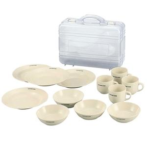 キャプテンスタッグ(CAPTAIN STAG) メラミン食器セット(キャリングケース付) M-1077 メラミン&プラスティック製お皿