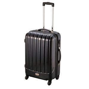 【送料無料】キャプテンスタッグ(CAPTAIN STAG) トラベルスーツケース(TSAロック付きダブルファスナータイプ) M ブラック MT-3566