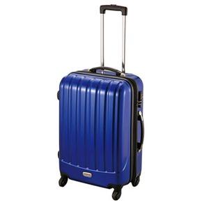 【送料無料】キャプテンスタッグ(CAPTAIN STAG) トラベルスーツケース(TSAロック付きダブルファスナータイプ) M ブルー MT-3578