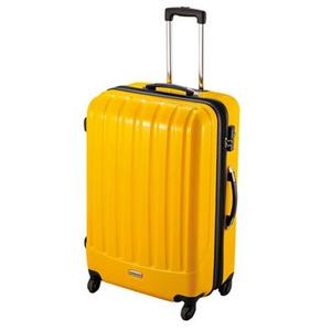 【送料無料】キャプテンスタッグ(CAPTAIN STAG) トラベルスーツケース(TSAロック付きダブルファスナータイプ)<L>(イエロー) L イエロー MT-3580
