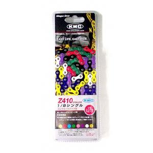 KMC(ケイエムシー) 1スピード用チェーン Z410/112LINK(レインボー) Y-9214