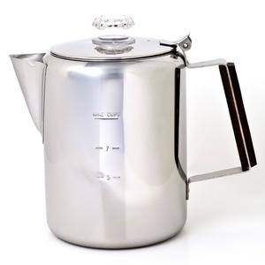 Chinook(チヌーク)ティンバーライン ステンレスコーヒーパーコレーター 9カップ