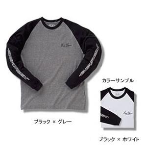 エバーグリーン(EVERGREEN) EGロングTシャツCタイプ(ツートン色) 3L ブラック×ホワイト
