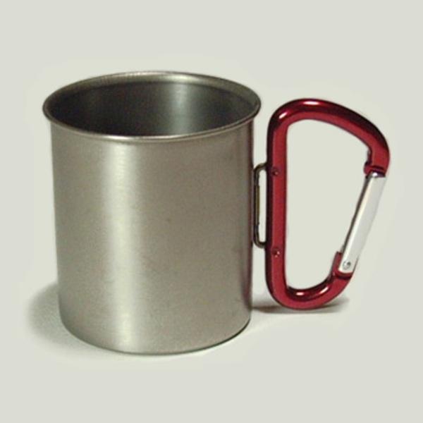 ZEST カラビナ付・チタンマグカップ SA018-RD チタン製マグカップ