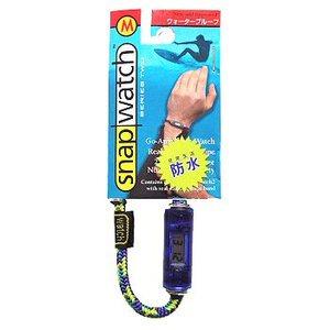 HOGWILD スナップウォッチ クリスタル M:19cm 時計:ブルー、ひも:イエロー系