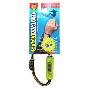 HOGWILD スナップウォッチ クリスタル M:19cm 時計:透明イエロー、ひも:イエロー系