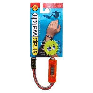 HOGWILD スナップウォッチ クリスタル M:19cm 時計:透明オレンジ、ひも:オレンジ系