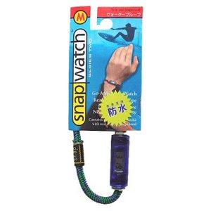 HOGWILD スナップウォッチ クリスタル M:19cm 時計:透明ブルー、ひも:グリーン系
