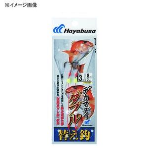 ハヤブサ(Hayabusa) デカマダイ 替針 ダブル 鈎14/ハリス8 イブシ茶 IS351