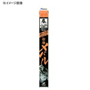 ハヤブサ(Hayabusa) 船極メバル 枝40cm回転ビーズ3本鈎2セット 鈎10/ハリス2 上黒 SD606