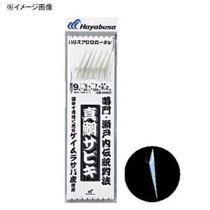 ハヤブサ(Hayabusa) 真鯛サビキ ケイムラサバ皮6本鈎 鈎8/ハリス4 白 SD803
