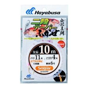 ハヤブサ(Hayabusa) 無双真鯛 二段テーパーふかせ1本鈎 鈎10/ハリス4 金 SE202