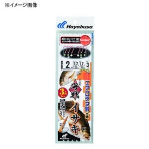 ハヤブサ(Hayabusa) 海戦イサキ エアロチヌオレンジ 3本針2セット 鈎0.8ハリス1.5 オレンジ SE372