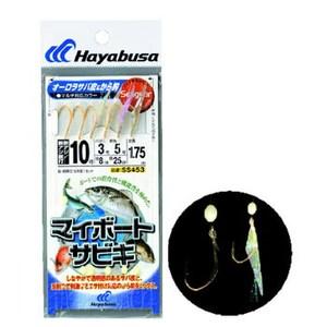 ハヤブサ(Hayabusa)マイボートサビキ オーロラサバ皮&から鈎