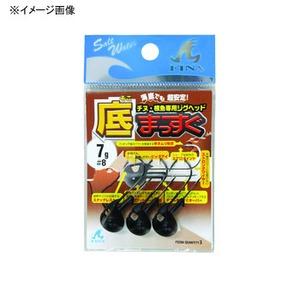 ハヤブサ(Hayabusa) チヌ・根魚専用ジグヘッド 底まっすぐ 5g マットブラック FS204 8-5